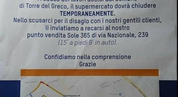 Torre del Greco, cantiere infinito: supermercato costretto a chiudere