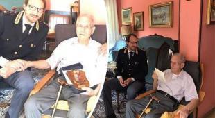 Angelo, l'agente più anziano d'Italia, compie 100 anni: la Polizia di Stato lo celebra così