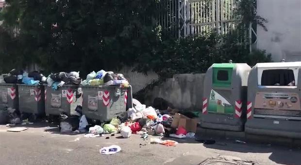 Barra invasa dai rifiuti