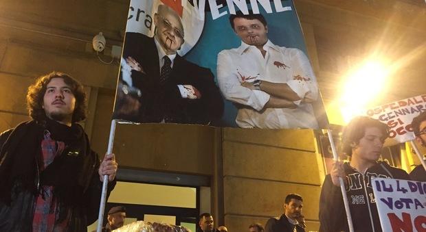 Napoli, «doje fritture» per De Luca: «In piazza il nostro no al referendum»