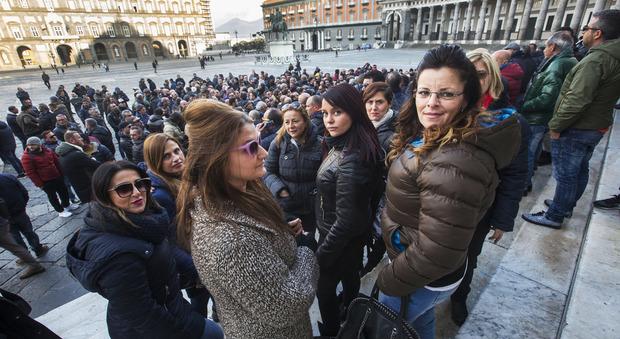 Tassisti in protesta, assemblea a Piazza del Plebiscito, domani a Roma. Newfotosud Sergio Siano
