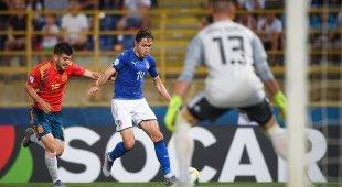 Europeo U21 Italia-Spagna 3-1 Doppio Chiesa e Pellegrini su rigore