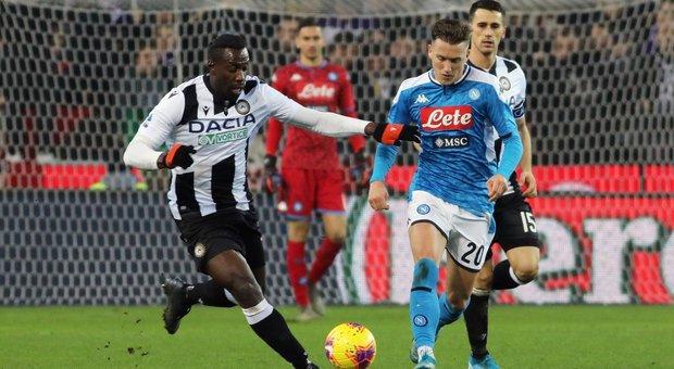 Il Napoli non va oltre l'1-1 con l'Udinese e non esce dal tunnel della crisi