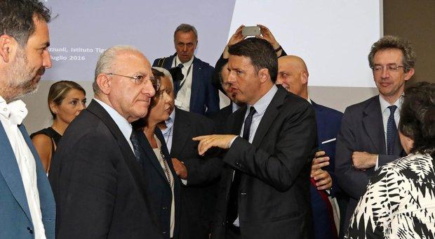De Luca annuncia: Renzi torna a Napoli per la Conferenza economica del Sud