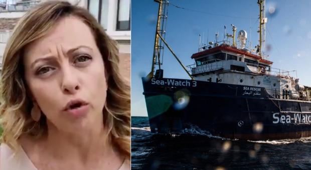 Sea Watch, Meloni: «Affondate la nave». Calenda: «Ricoveratela in un Tso»