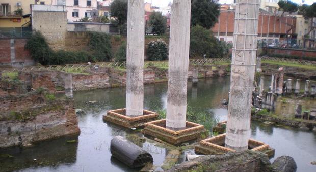 Bomba d'acqua sui Campi Flegrei allagato il Tempio di Serapide