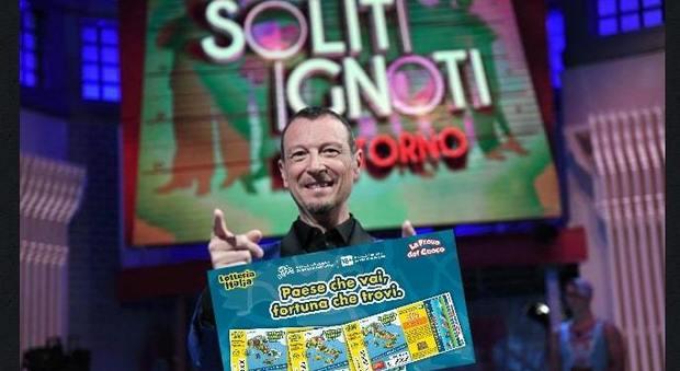 Lotteria Italia 2019, la fortuna stasera arriva con I soliti ignoti di Amadeus