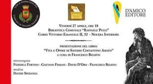«Vita e opere di Saverio Costantino Amato», Francesco Belsito torna a Nocera Inferiore
