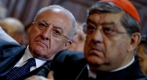 Sepe: «San Gennaro è patrono della Campania. Saluto il grande presidente De Luca»