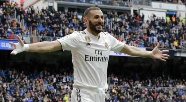 Liga, il Real Madrid vince in casa  contro l'Athletic Bilbao: tris Benzema