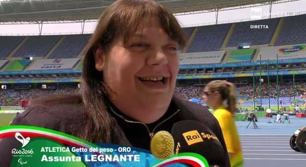 La frattese Assunta Legnante medaglia d'oro nel lancio del peso alle paralimpiadi di Rio
