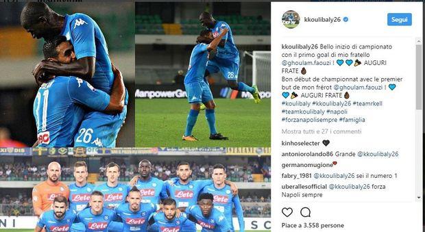 Koulibaly elogia Ghoulam: «Primo gol, auguri frate'»