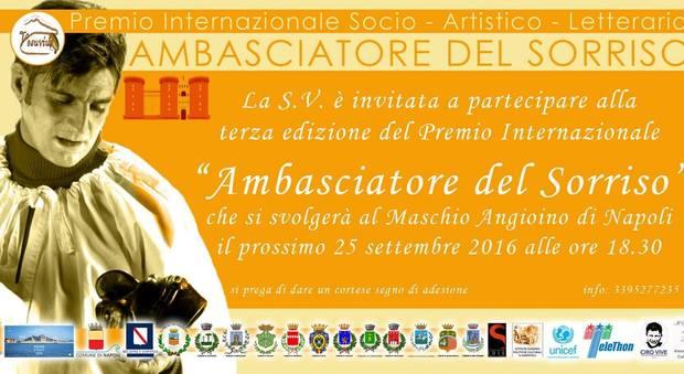 Maschio Angioino, torna il Premio Ambasciatore del Sorriso: tanti premiati nel mondo della Cultura