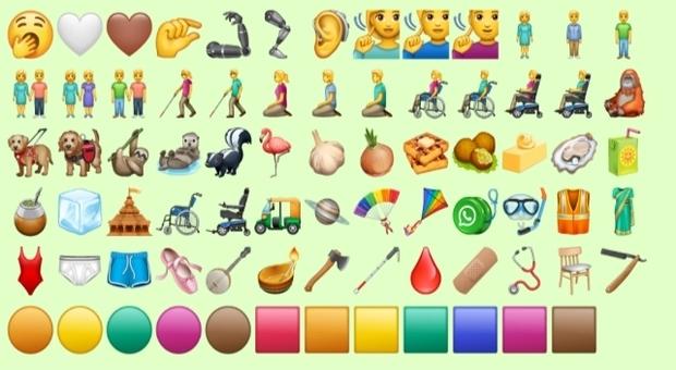 Whatsapp, ecco le nuove «faccine»: aggiunte 74 emoji