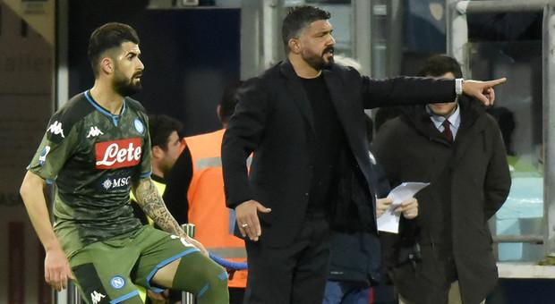 Cagliari-Napoli, Gattuso frena:  «Non mi fido, ci serve continuità»