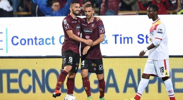 La Salernitana torna grande nel derby Della Rocca e Marchi stendono il Benevento