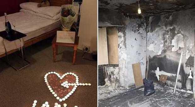 Favorito Prepara una sorpresa romantica alla fidanzata ma brucia la casa  DA11