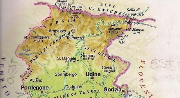 Dettagliata Cartina Del Friuli Venezia Giulia.La Cartina Geografica Della Vergogna Il Libro Di Scuola Della Quinta Elementare E Pieno Di Errori Il Mattino It