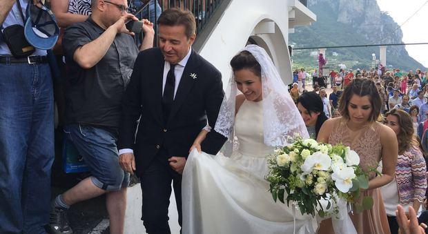 Matrimonio In Napoletano : La figlia di de sica sposa a capri sfilata vip in