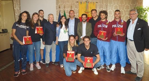 Universiadi, cerimonia di premiazione al Comune di Napoli