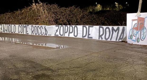 Roma-Lazio, striscione a Trigoriacontro Zaniolo prima del derby - Il  Mattino.it