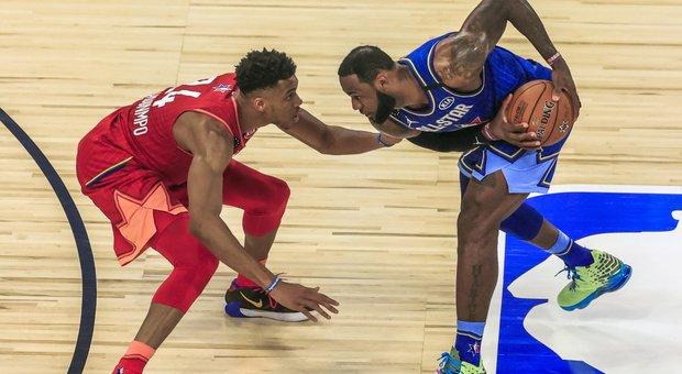 All Star Game dedicato a Kobe, vince il team di LeBron con Leonard