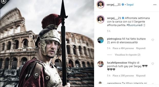 Lazio, ecco Milinkovic, un post da cinturione: «La carica del Sergente»
