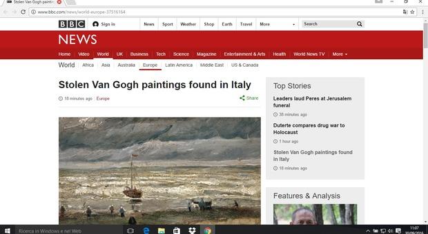 Dipinti Van Gogh ritrovati a Napoli la notizia fa il giro del mondo