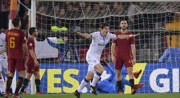 Roma-Atalanta 1-2: brusca frenata giallorossa, fischi all'Olimpico