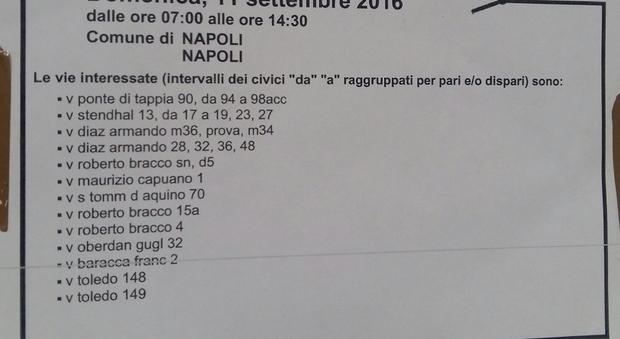 Napoli, domenica mattina senza corrente nella «city»