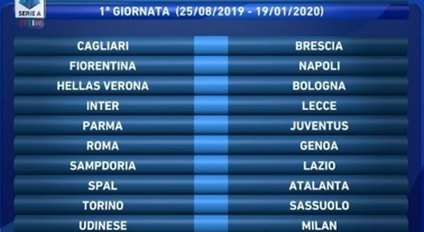 Calendario Serie A Del Napoli.Serie A Live Il Calendario Del Napoli Debutto A Firenze
