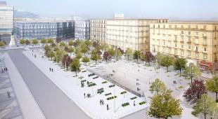 Alberi e wi-fi a piazza Garibaldi: apertura per le Universiadi