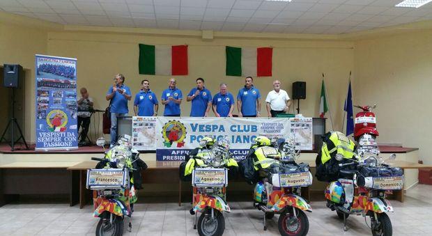 Autismo, il «Giro d'Italia in Vespa» arriva a Castello di Cisterna
