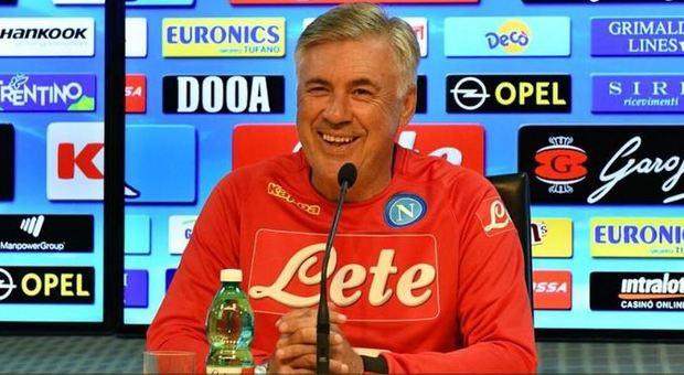 Lazio-Napoli, la prima di Ancelotti:<br /> &laquo;Non mi stanco mai di vincere&raquo;
