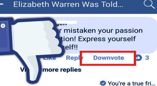 Facebook, niente pollice verso: per declassare commenti incivili arriva il downovote
