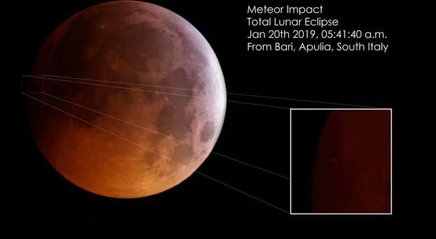Eclissi con sorpresa, un piccolo asteroide si schianta in diretta sulla superficie della Luna