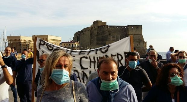 Ministrio Lorenzin attesa a Napoli esplode la protesta: 200 in piazza