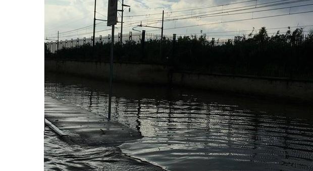 Acquazzone in area flegrea: strade allagate e disagi
