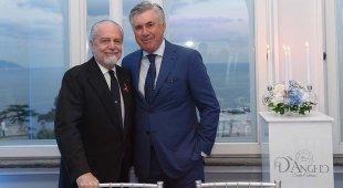 De Laurentiis si tiene Ancelotti: «Sarà bello vederlo battere Sarri»