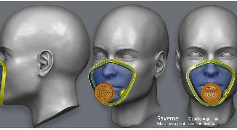 maschera con filtro virus
