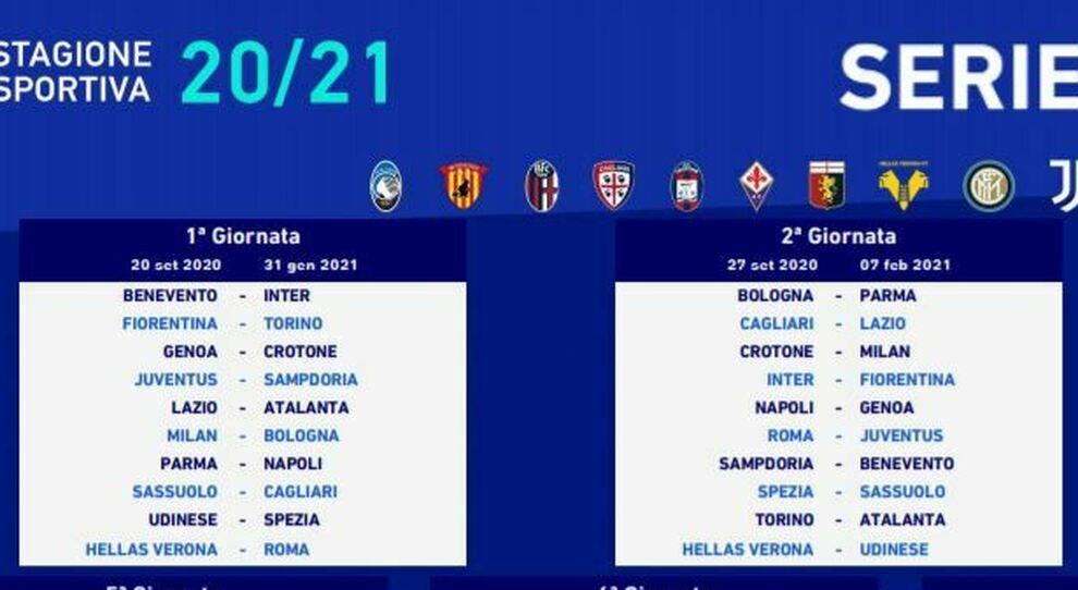 Serie A, il calendario 2020 21:il Napoli debutta a Parma, subito