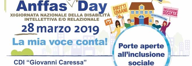 Giornata nazionale della disabilità: domani centri Anffas a porte aperte