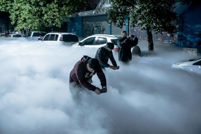 Argentina, perdita di ossigeno in un ospedale crea una nube bianca - VIDEO