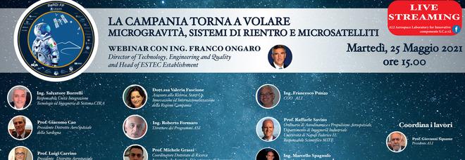 «La Campania torna a volare», webinair su microgravità e microsatelliti