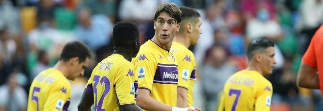 Udinese-Fiorentina 0-1, il rigore di Vlahovic regala tre punti a Italiano