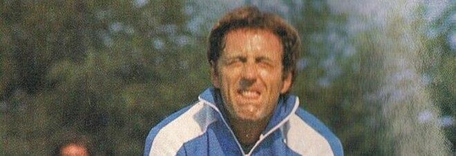 Bellugi con la divisa del Napoli durante un allenamento nella stagione 79/80