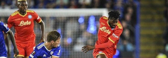 Leicester-Napoli, la svolta dai cambi: Di Lorenzo sbaglia, Fabian Ruiz regge