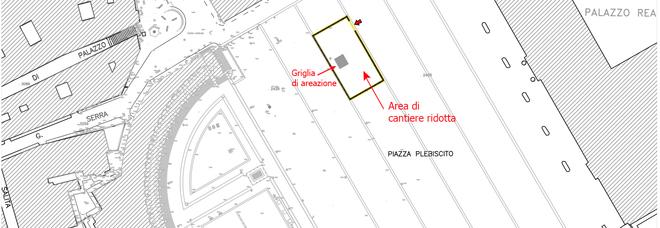 Napoli: Linea 6, si riduce il cantiere in piazza del Plebiscito