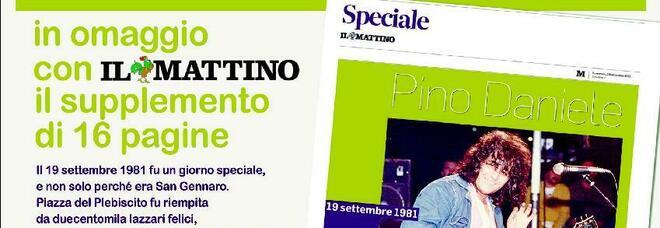 Pino Daniele, 40 anni fa la grande notte del Plebiscito: il doppio omaggio del Mattino tra carta e web