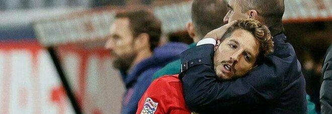 Mertens rischia il posto all'Europeo? «Dries gioca sempre al meglio»